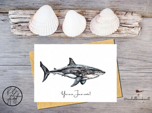 You are Jawsome Great white shark greetings card