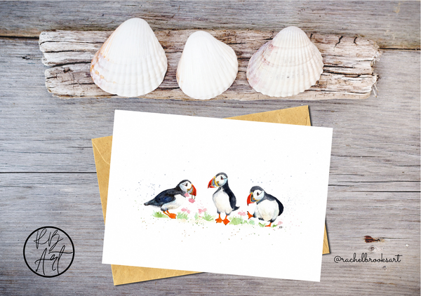 Puffin Parade Greetings Card