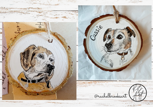 Wooden Hand Painted Pet Decoration
