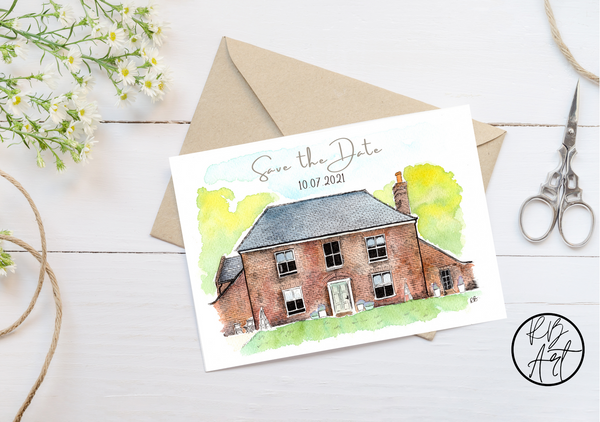 Personalised Save the Date Card Design