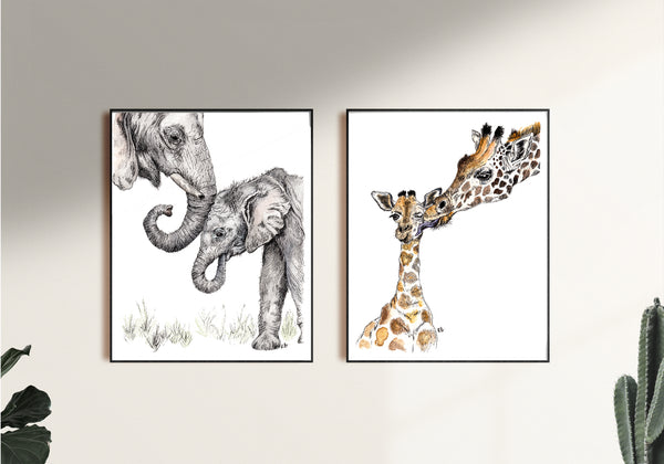 Set of nursery Art Prints by Rachel Brooks Art