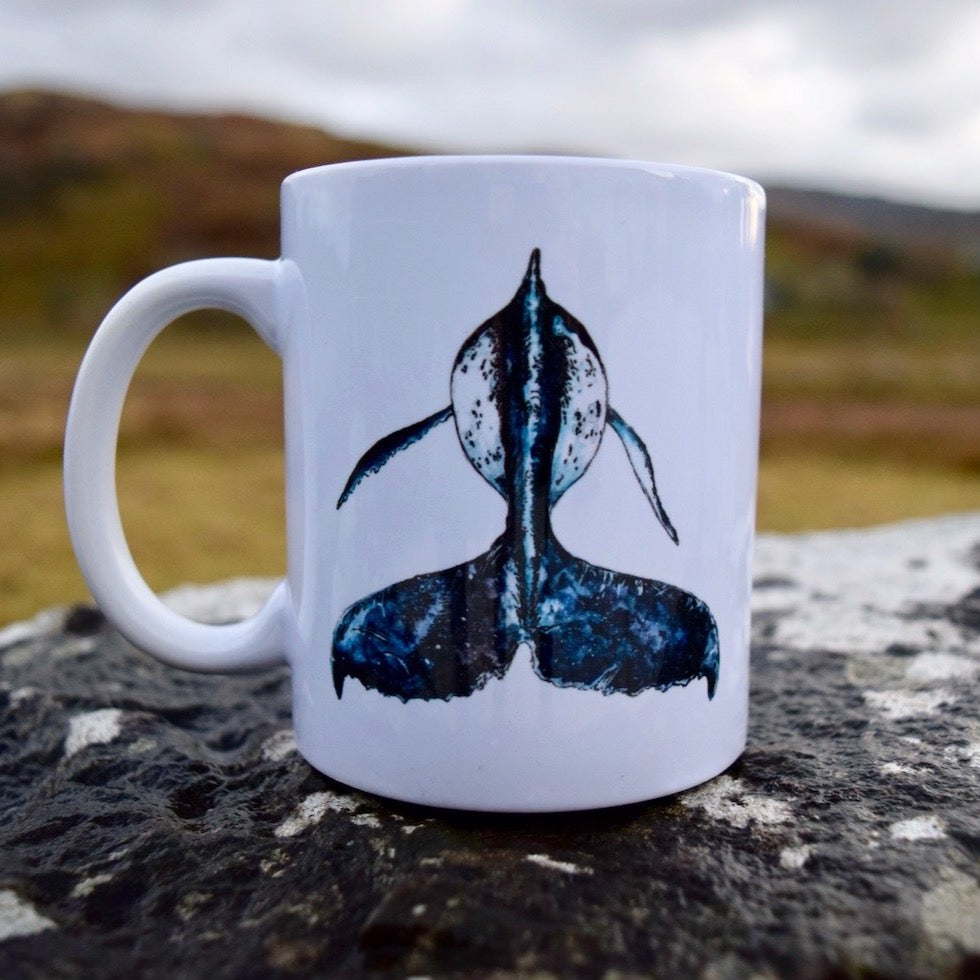 Humpback Whale Tail Ceramic Mug by Rachel Brooks Art