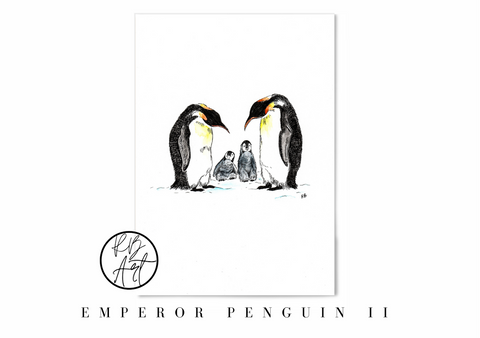 Penguin Family Art Print by Rachel Brooks Art