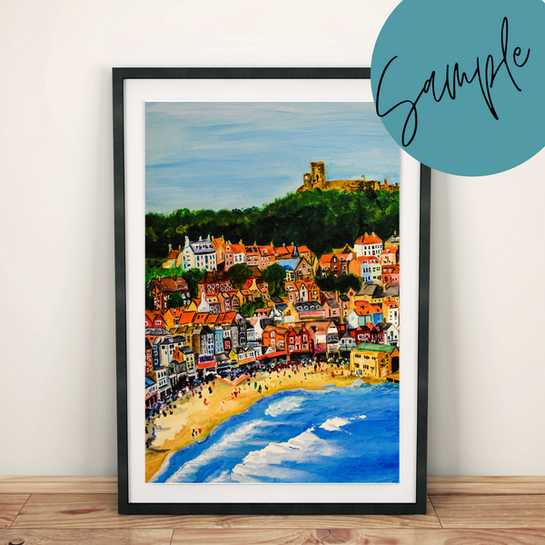 Scarborough Acrylic Painting - SAMPLE Art Print