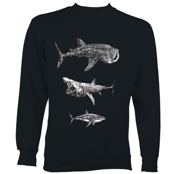 Three Giant Sharks Sweater
