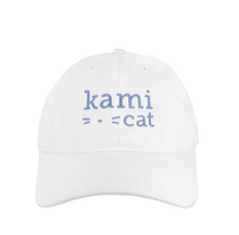 Load image into Gallery viewer, Kami Cat Signature Logo Cap w/ Light Blue Design