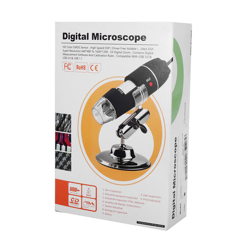 Image of 8 LED Digital Microscope Borescope Video Camera Magnifier with Stand