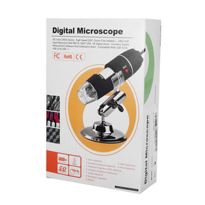 8 LED Digital Microscope Borescope Video Camera Magnifier with Stand