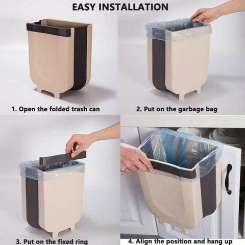 Wall  Folding Waste Bin