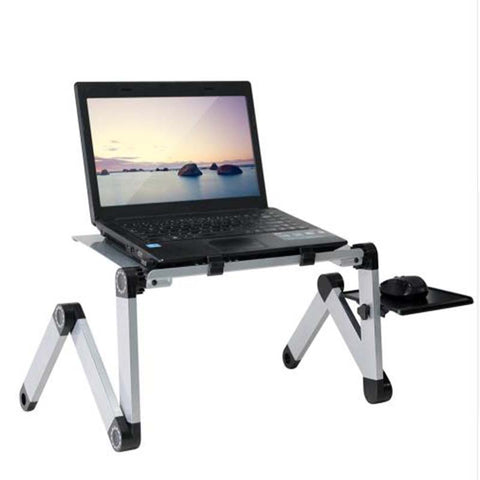 Image of Adjustable Aluminum Laptop Desk Stand