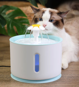 Automatic Pet Water Fountain with LED Electric USB