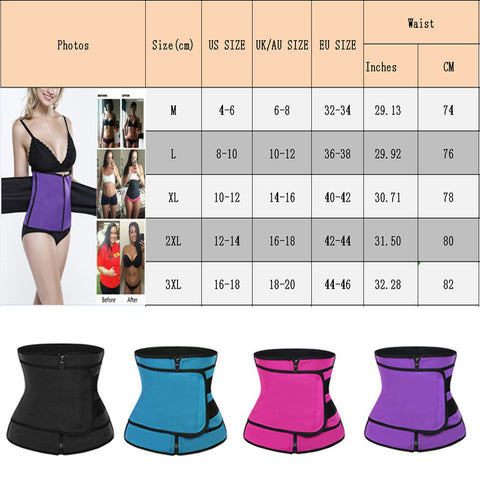 Sweat Body Shaper Waist Trainer
