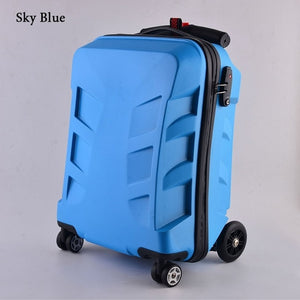 carry on luggage trolley scooter