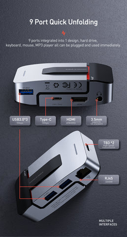 Image of USB C HUB 9 in 1