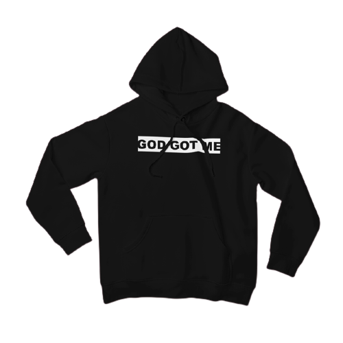 Black OG Box Logo Hooded Sweatshirt