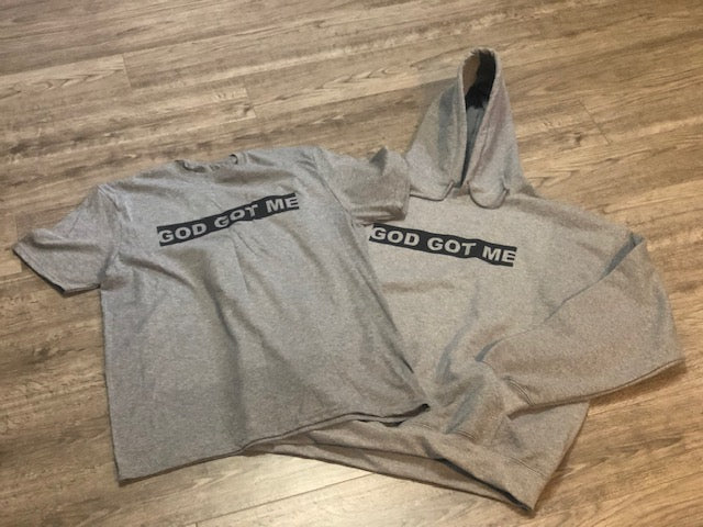 Heather Gray/Black OG Box Logo Tee + Hoodie Bundle