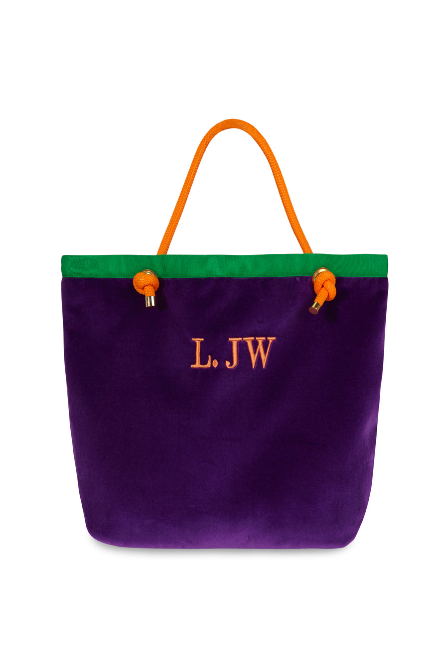 claudine-handbags - Bolso Shopping Personalizado Claudine Terciopelo Morado - ShoppingBag