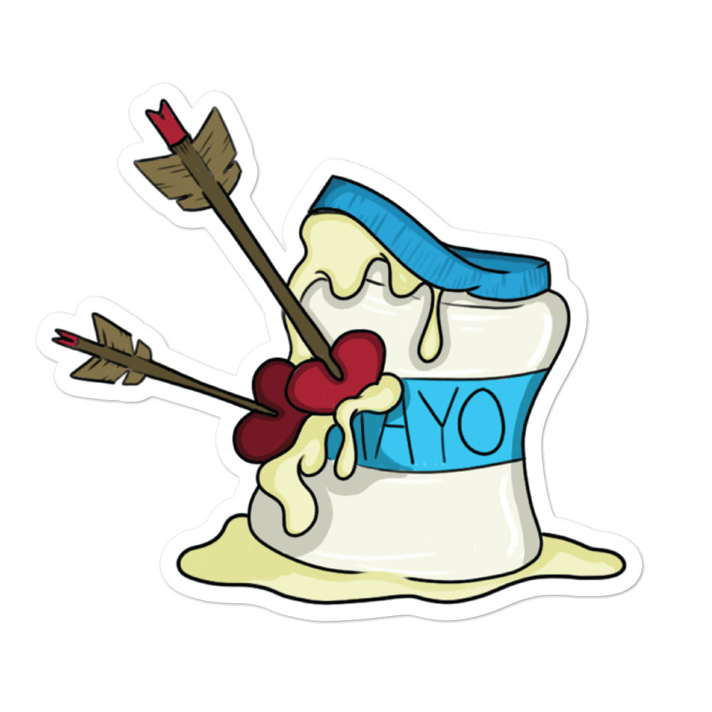 Love Mayo Valentine's Day Bubble-free stickers