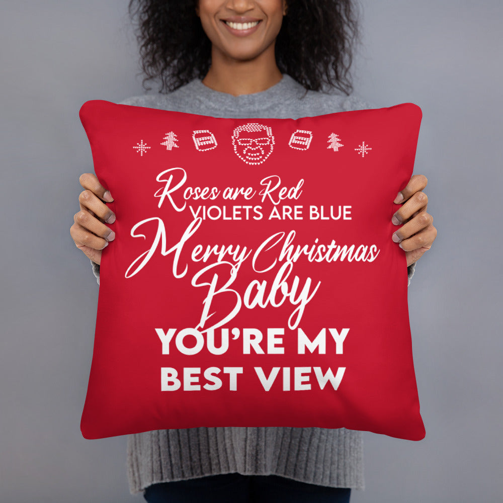 BigED Holiday Poem Basic Pillow