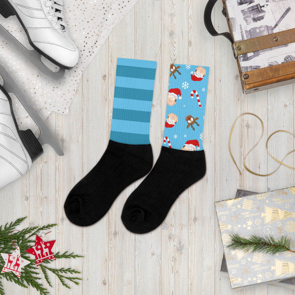 BigED Holiday Blue Striped Socks