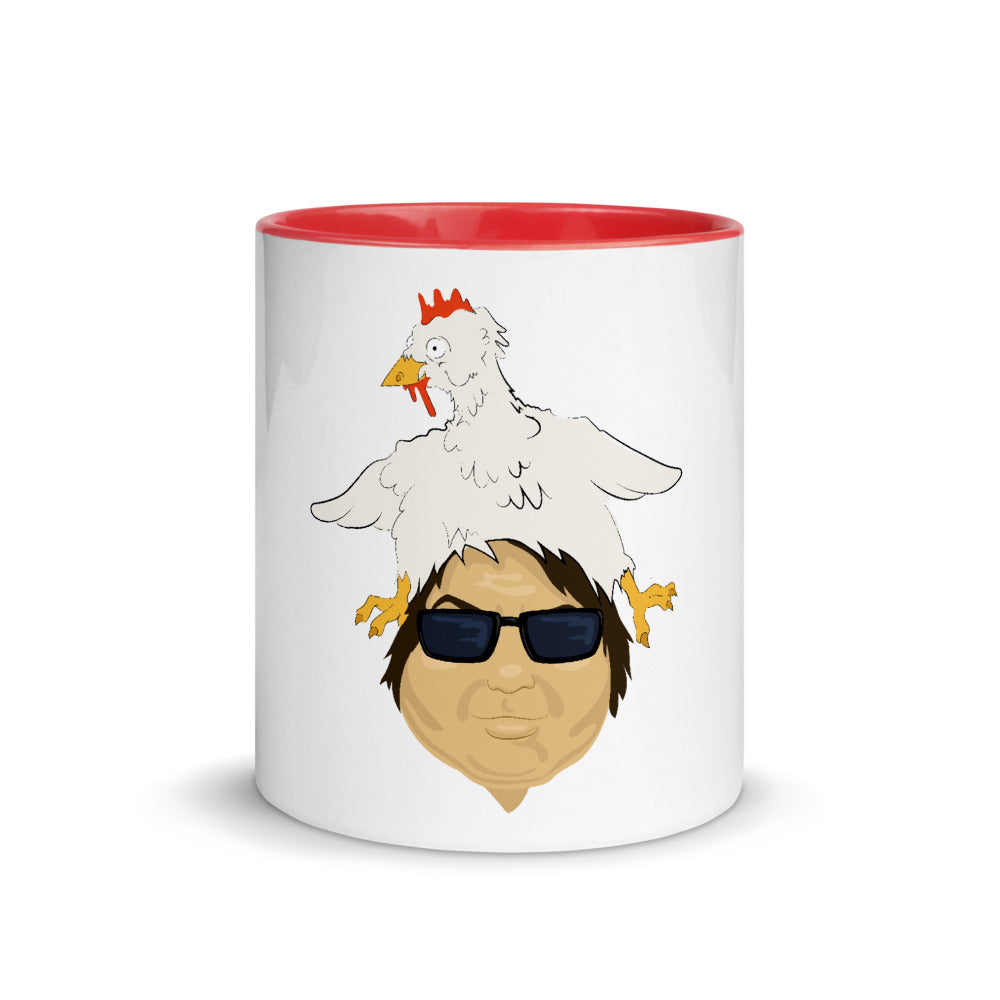 BigED Chicken Head Mug with Color Inside