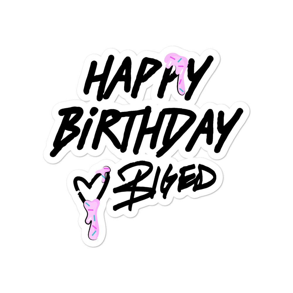 BigED Happy Birthday Bubble-free stickers