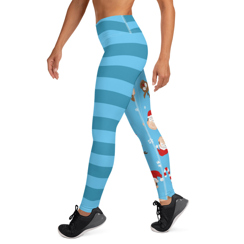 BigED Holiday Blue Striped Women's Leggings