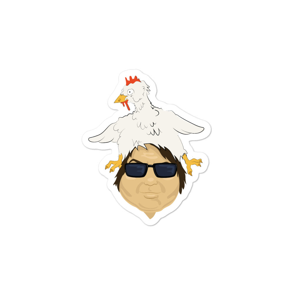 BigED Chicken Head Bubble-free stickers
