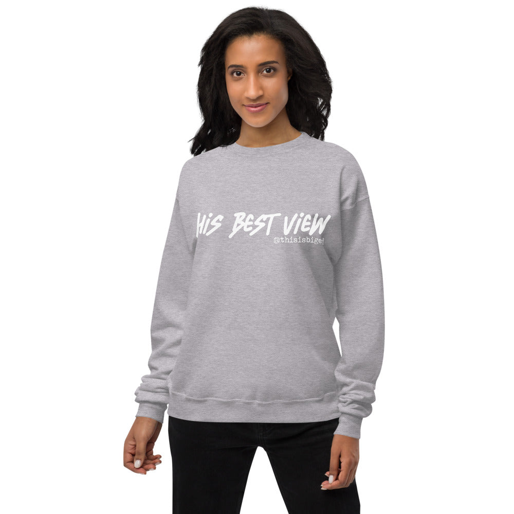 His Best View Unisex Crewneck Sweater