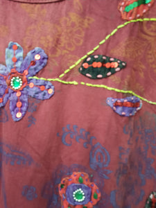 Sequined embroidered tunic
