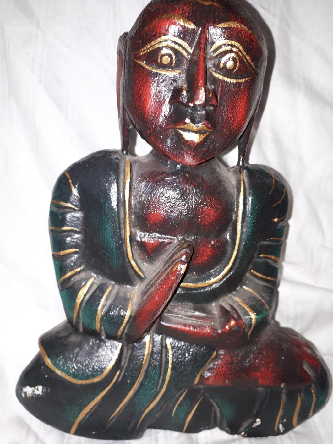 Carved Wooden Buddha