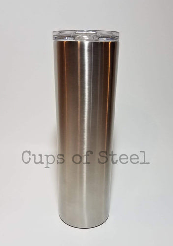 30oz Skinny Tumbler With Leak-Proof lid  W/Straw
