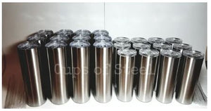 Skinny stainless steel cup tumblers