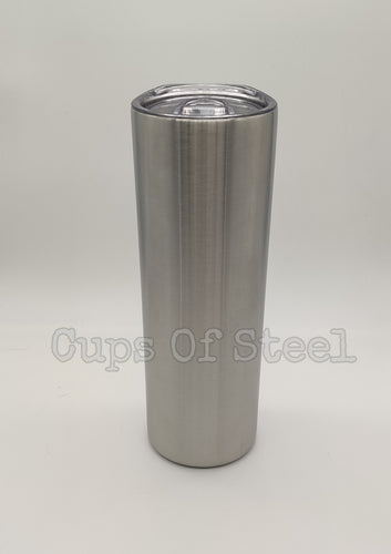 20oz Skinny Tumbler Leak Proof Lid W/Straw