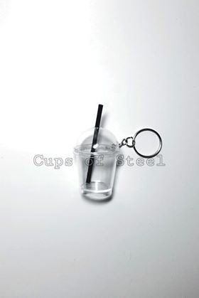 dome cup keychain craft set with straw