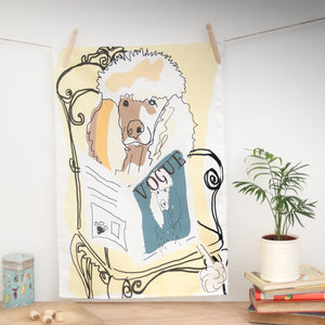 Load image into Gallery viewer, Poodle Vogue - Tea Towel