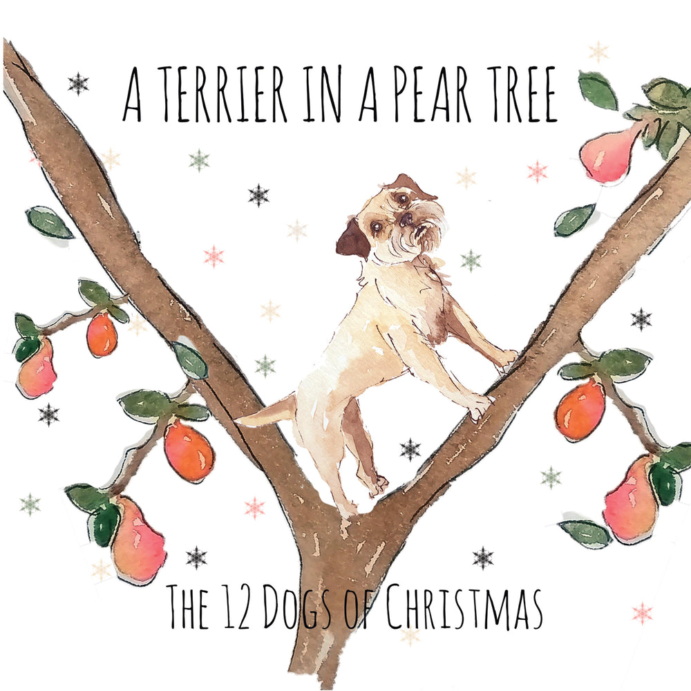 A Terrier in a Pear Tree - Greeting Card