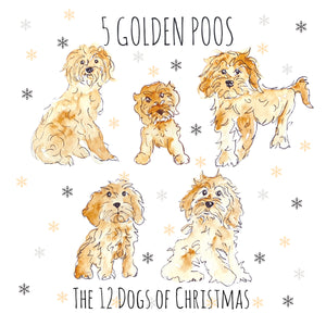 5 Golden Poos - Greeting Card