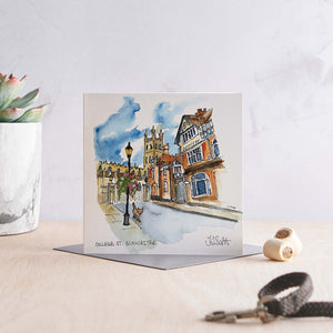 Load image into Gallery viewer, College Street, Gloucester - Greeting Card