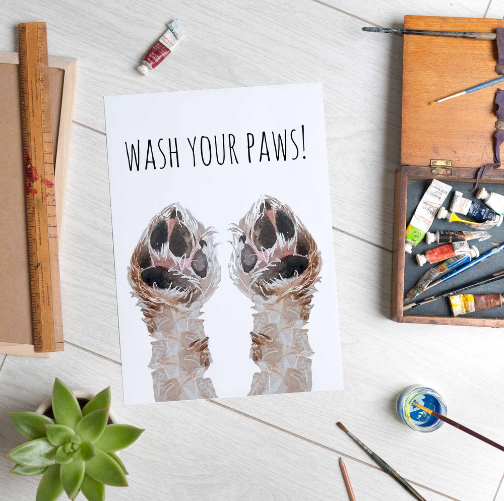 Wash Your Paws Print - Digital Download