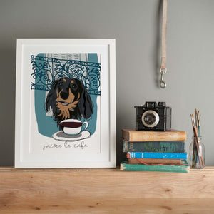Load image into Gallery viewer, J'aime le cafe - Giclee art print