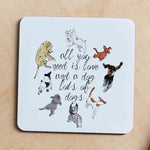 All you need is Love & Dogs, Lots of Dogs, Jumbo Coaster - LC1