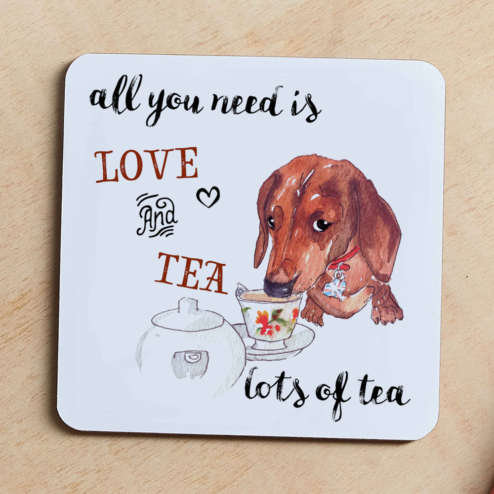 All you Need is Love and Tea, Jumbo Coaster - LC8