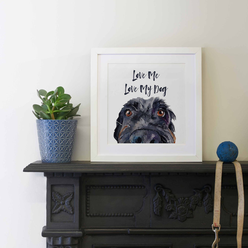 Load image into Gallery viewer, Love Me, Love My Dog (Mounted Print)