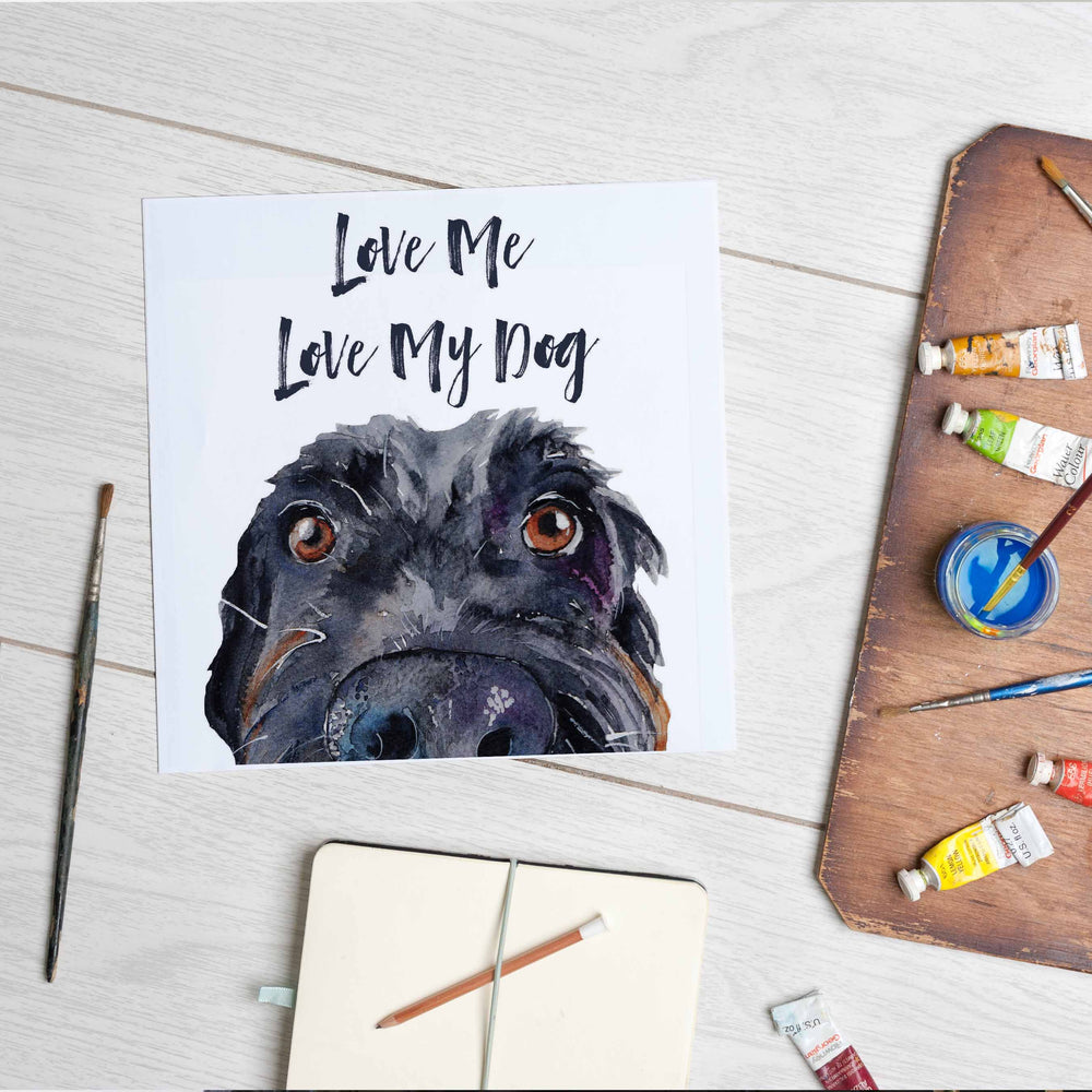 Love Me, Love My Dog (Mounted Print)