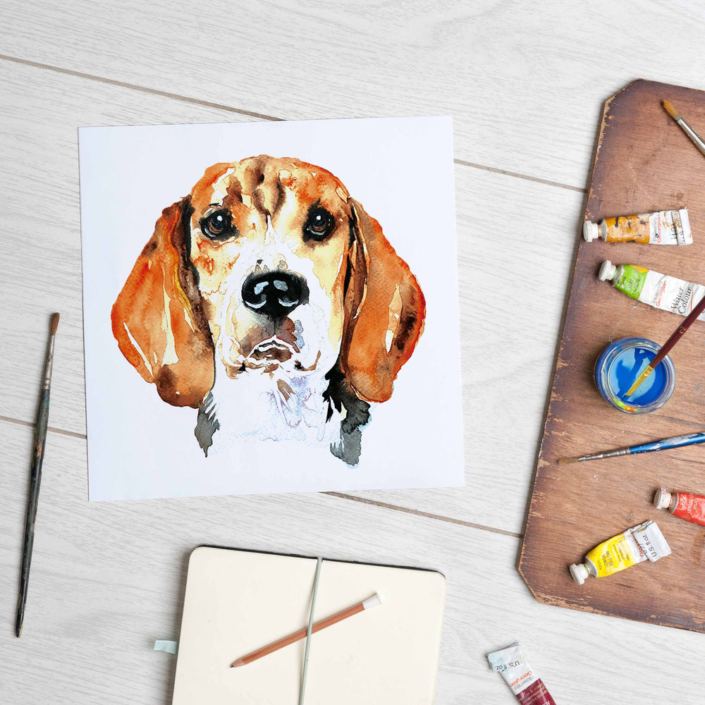 Beagle (Mounted Print)