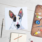 Bull Terrier (Mounted Print)