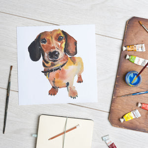 Load image into Gallery viewer, Dachshund (Mounted Print)