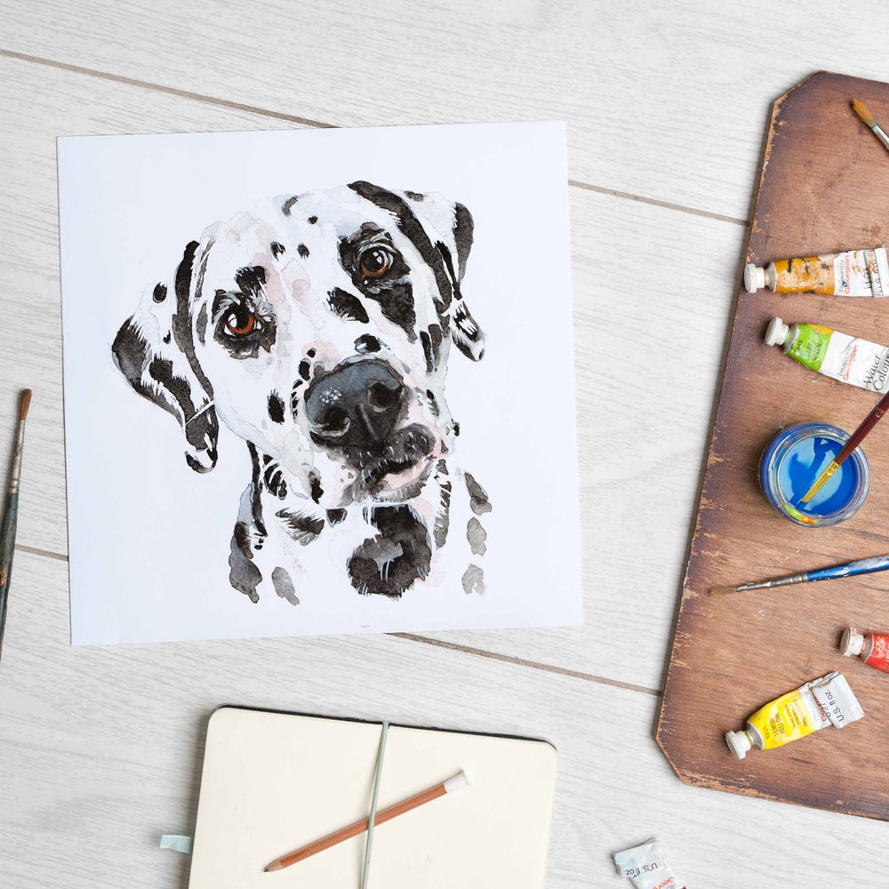 Load image into Gallery viewer, Dalmatian (Mounted Print,)