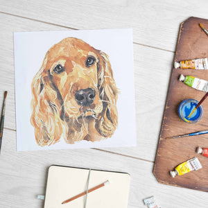 Load image into Gallery viewer, Golden Cocker Spaniel (Mounted Print)